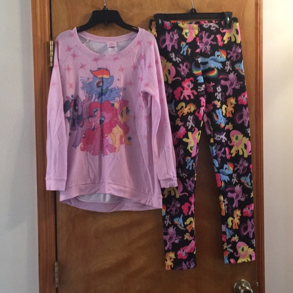 MY LITTLE PONY VEST AND SHORT PJ SET..SIZES 14-16 OR 18-20..BRAND NEW..SLEEPWEAR